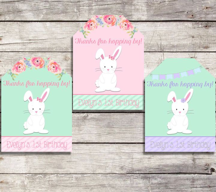 Favor tags bunny birthday bunny favor tags printable first bunny favor tags some bunny birthday thank you tags easter spring birthday favor tags negle Gallery