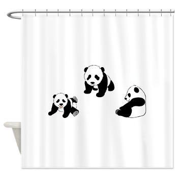 Pandas At Play Shower Curtain Pandas Playing Panda Panda Bear
