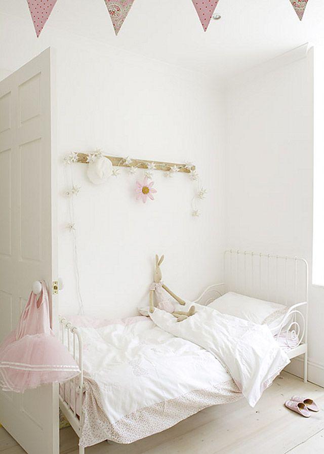 Prentice Cottage White Wood Glass Bedroom Set Ikea Minnen Bed Girl Room Girls Bedroom
