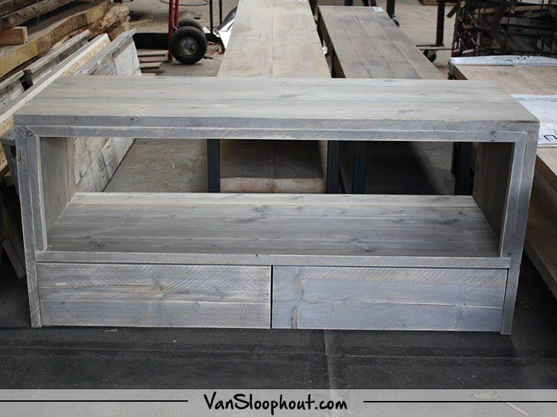 Een Sloophout Interieur : Steigerhout old look tv meubel! leuk voor in je interieur om een