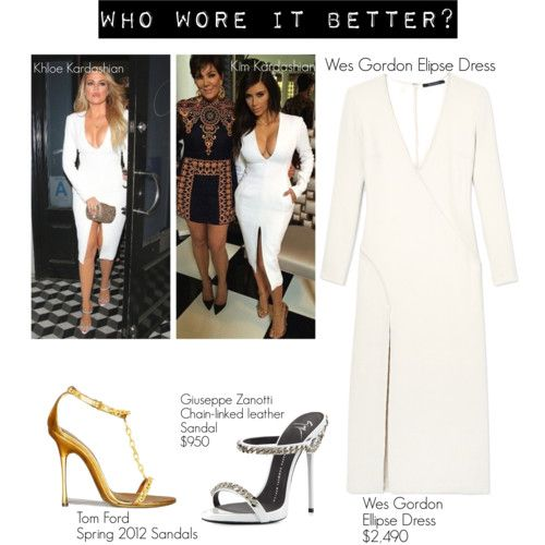 Who wore it better? by chocolate-addicted-angel on Polyvore featuring polyvore fashion style Wes Gordon Giuseppe Zanotti Tom Ford