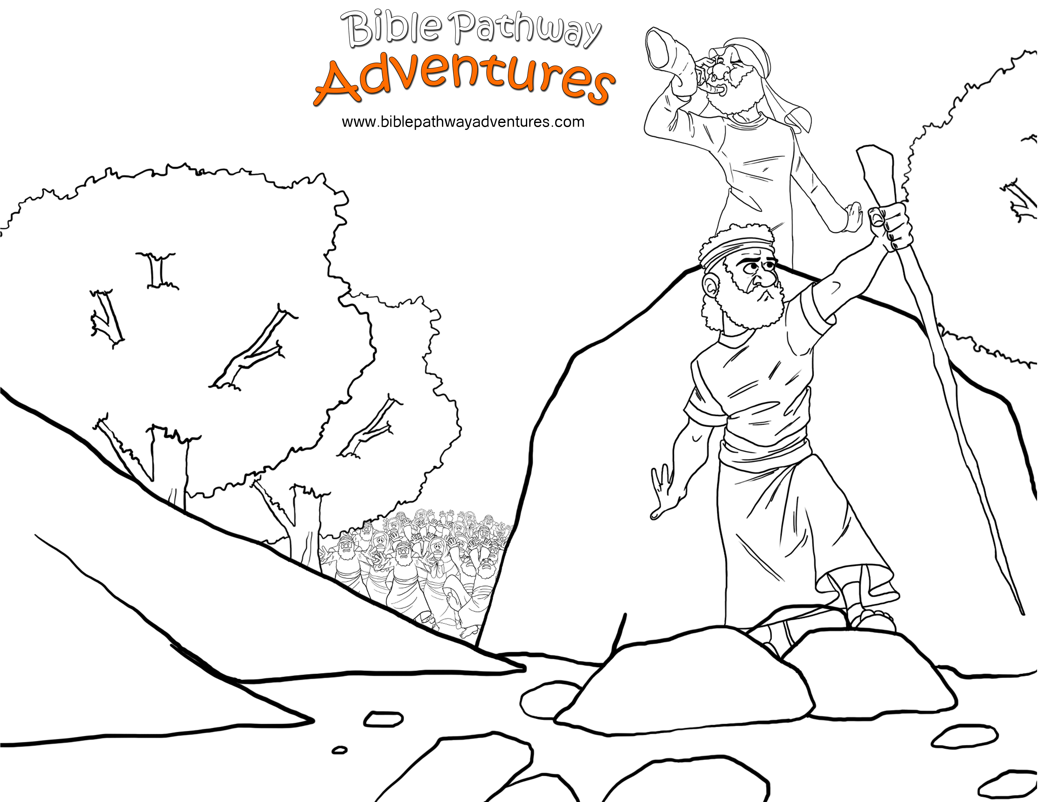 israelites and the promised land coloring pages | Free Bible Coloring Page - To the Promised Land | Sunday ...