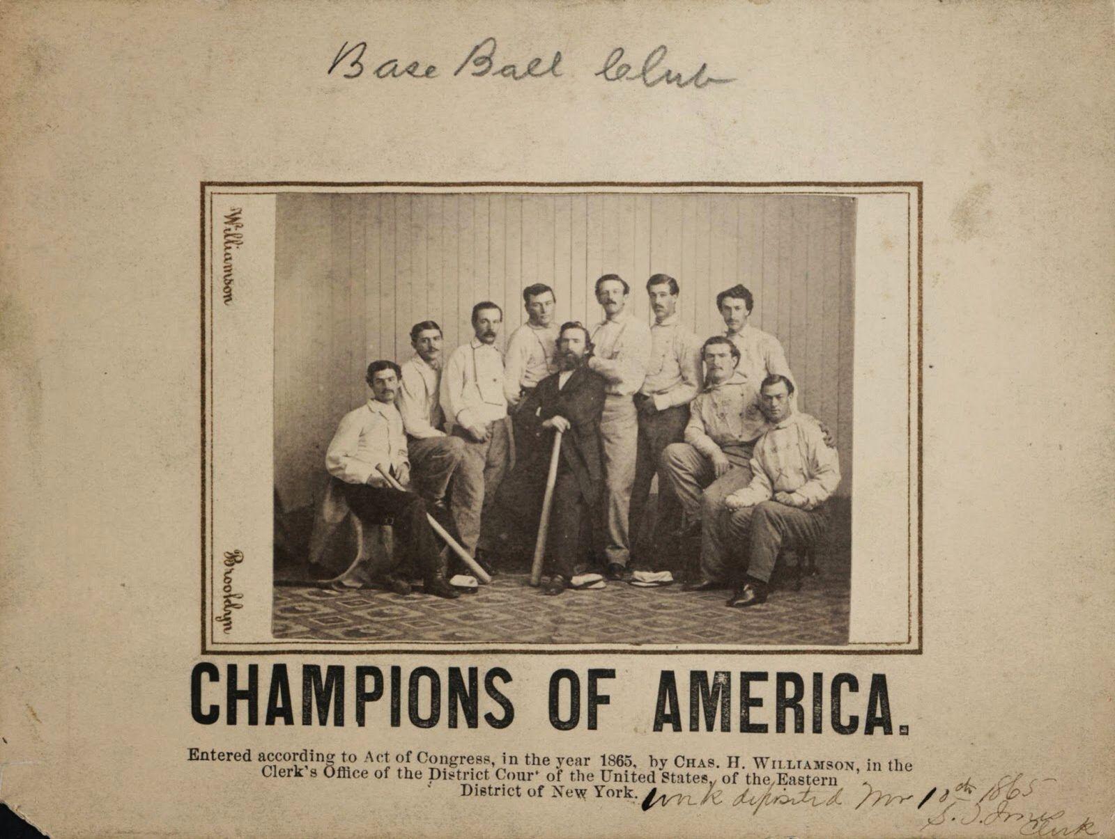Group portrait of members of the Brooklyn Atlantics