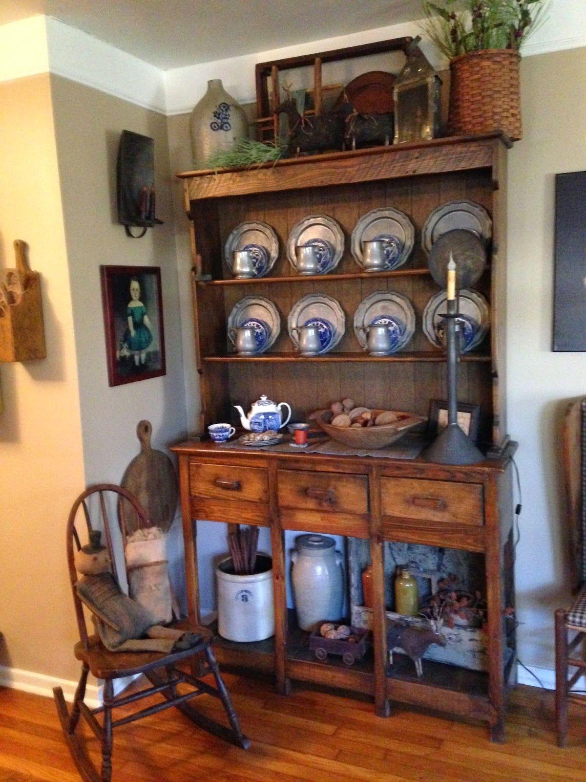 Green Creek Primitives MY WINTER HOME Primitive Dining RoomsPrimitive