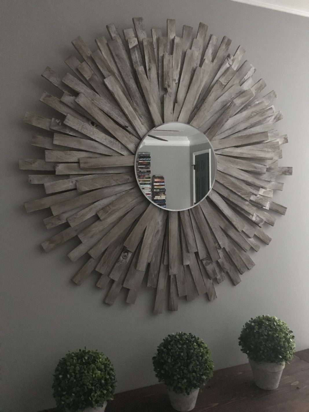 Sunburst Mirror Diy Cheap And Creative Wall Art With Wood Shims