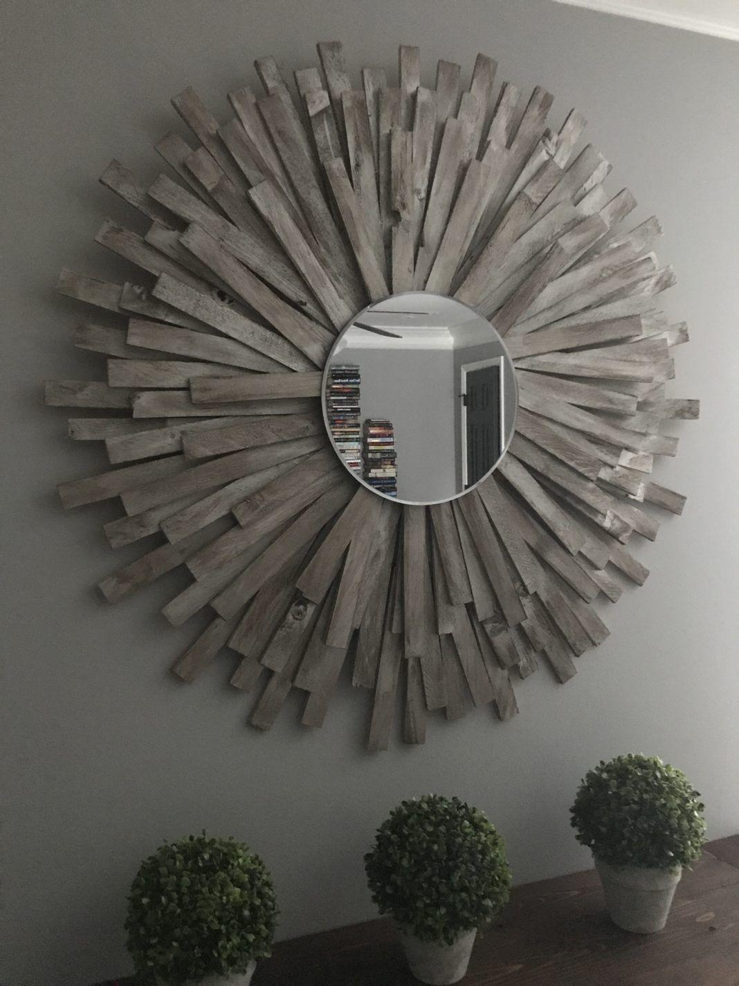 Sunburst Mirror Diy Cheap And Creative Wall Art With Wood Shims Creative Wall Art Mirror Wall Art Diy Mirror