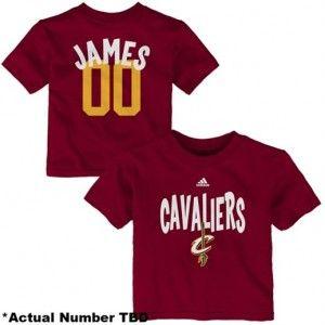 pretty nice bd633 feb87 Cleveland Cavaliers, Lebron James Baby Tee, Creeper, Jersey ...