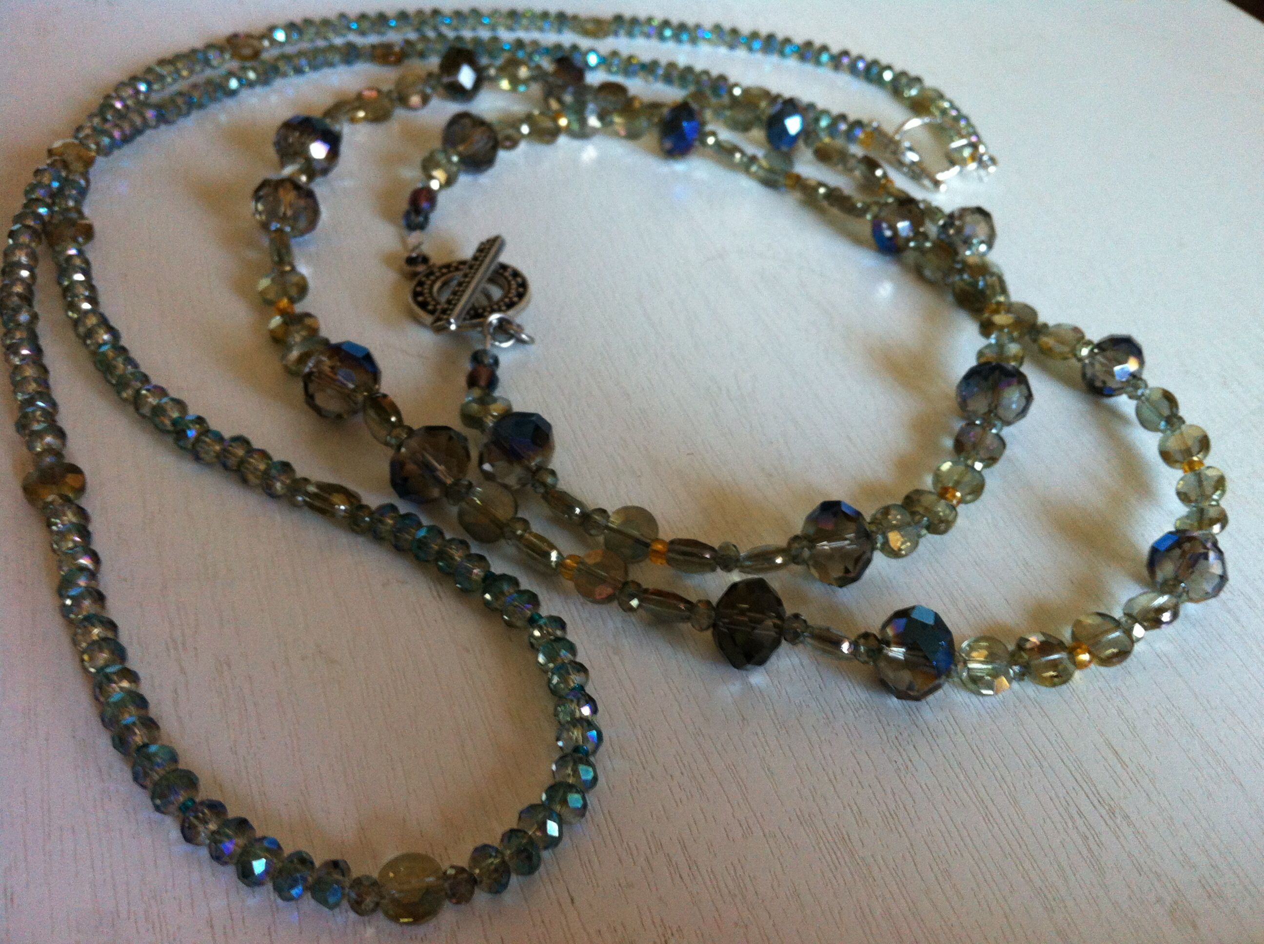'Capricorn' & Aquarius' glass bead necklaces