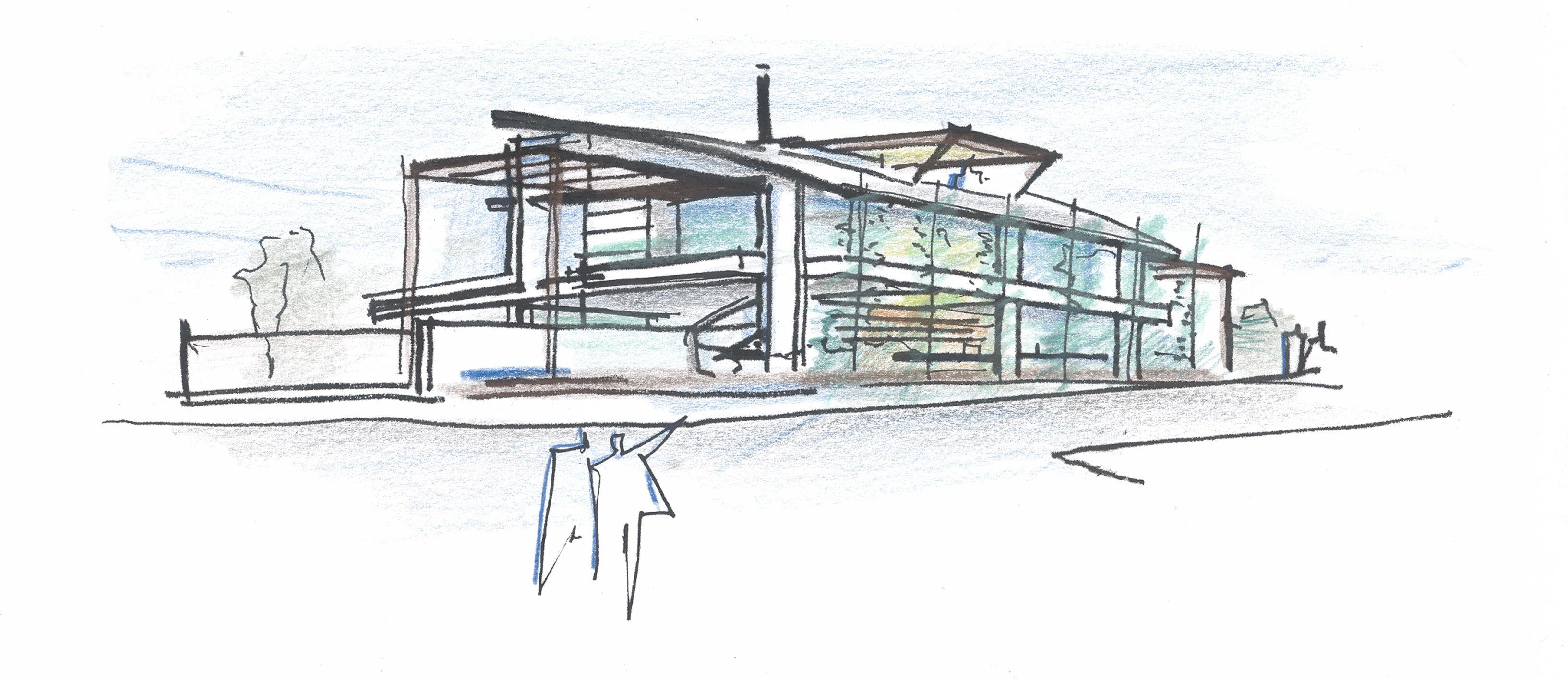Architecture House Sketch concept sketch | concept / diagrams | pinterest | concept diagram