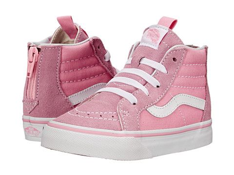 ae3b567895 Vans Kids Sk8-Hi Zip (Toddler) Prism Pink True White - Zappos.com Free  Shipping BOTH Ways