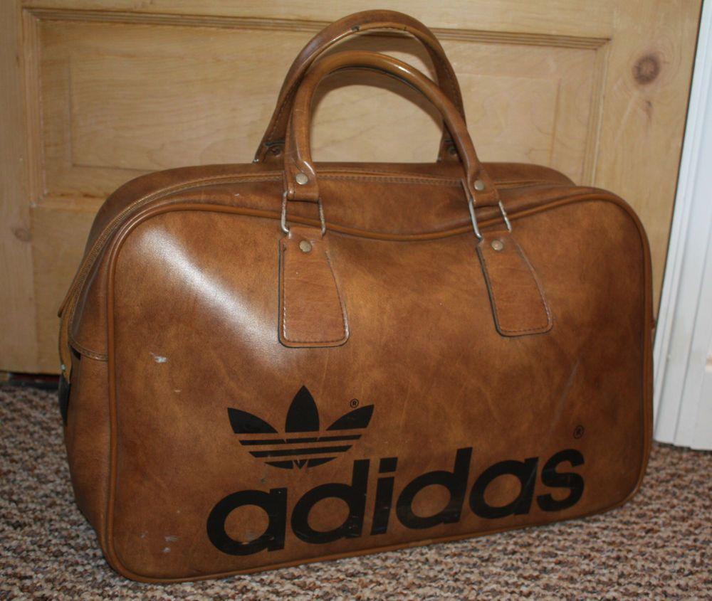 Vintage Authentic ADIDAS 70s 80s Vinyl Weekender Holdall Bag in ...
