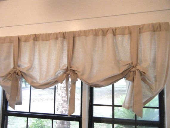 Country Cottage Valance Cotton Muslin Or Osnaburg 42 Quot W