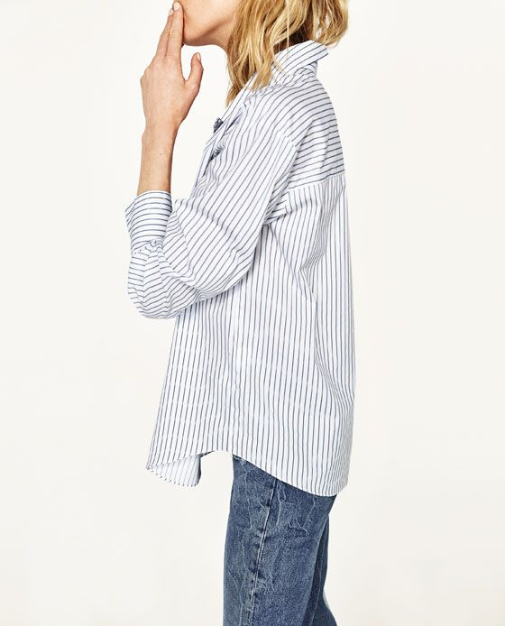 3fb07bc6dd2 Image 6 of MULTIPOSITION STRIPED SHIRT from Zara Bell Sleeves