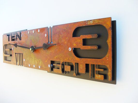 Outnumbered Clock IV Rust by All15Designs on Etsy, $68.00
