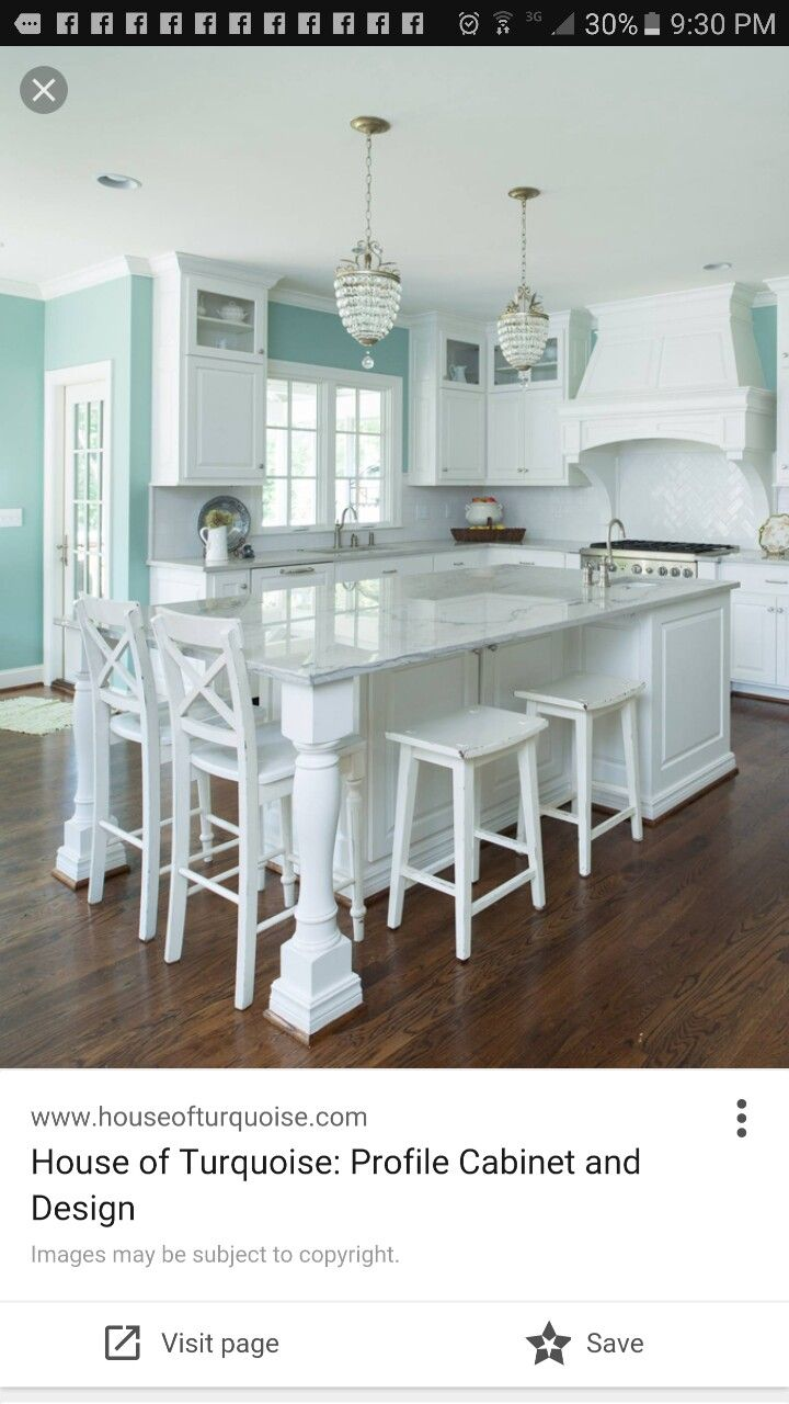 Love This Great Wall Color Too Looks Like My Living Room Walls Beach House Kitchens Kitchen Island Design Kitchen Island With Seating