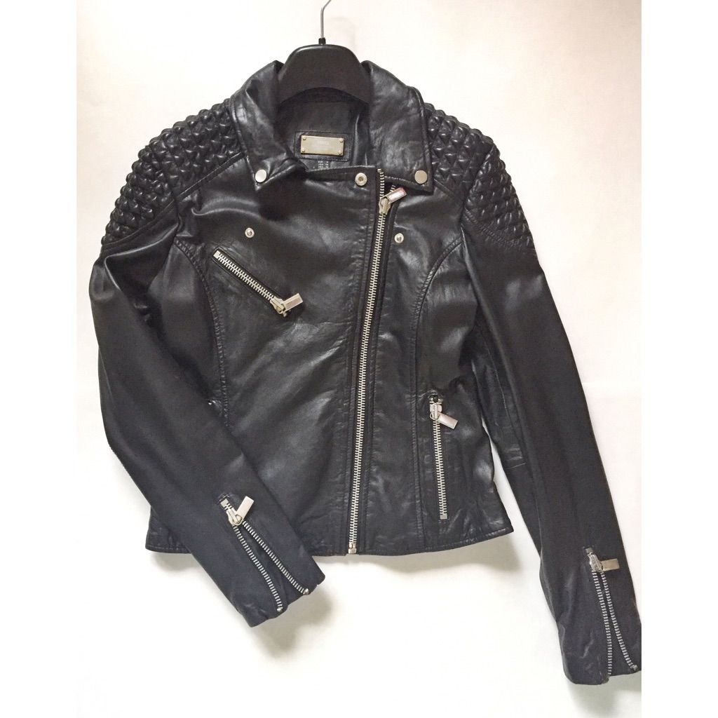 Mango Genuine Leather Biker Jacket Products