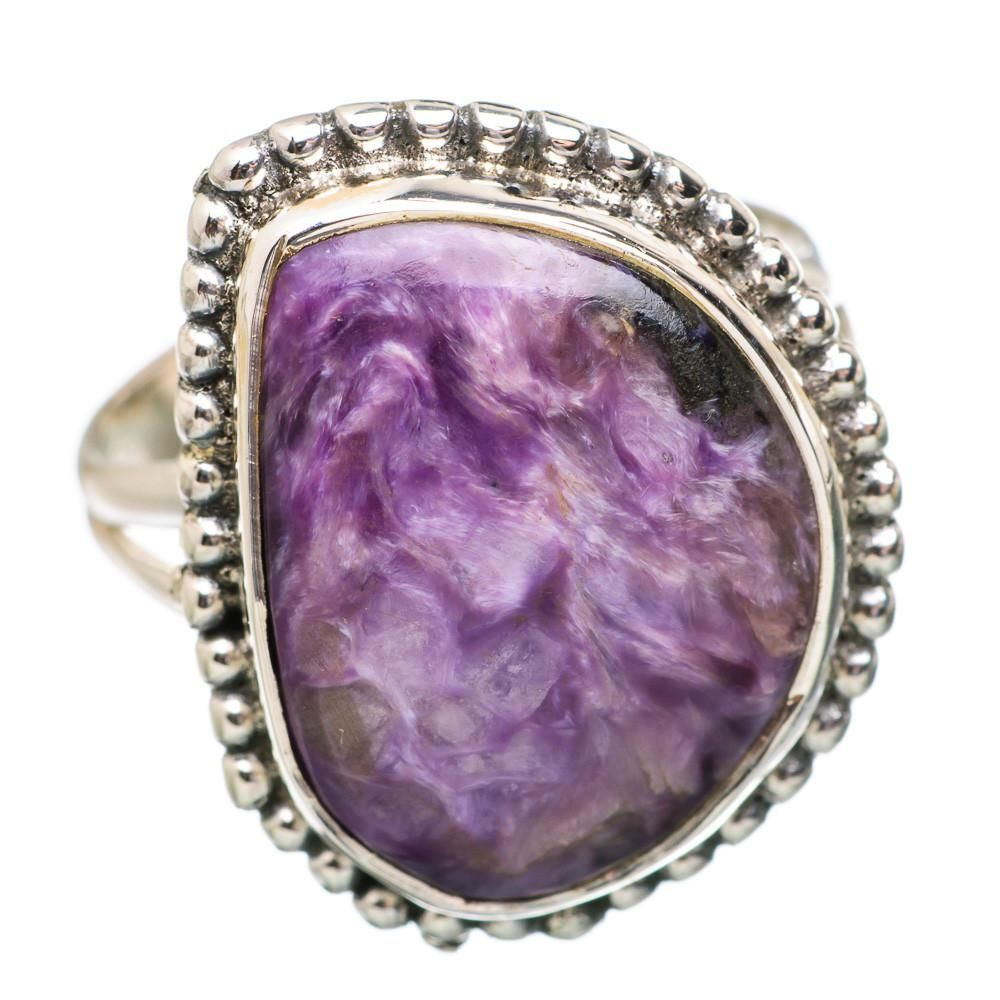 Ana Silver Co Rare Charoite 925 Sterling Silver Ring Size 7.75 RING835530