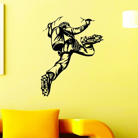 Wall Decal Vinyl Sticker Rock Climber Climbing Extreme Sport Wall ...
