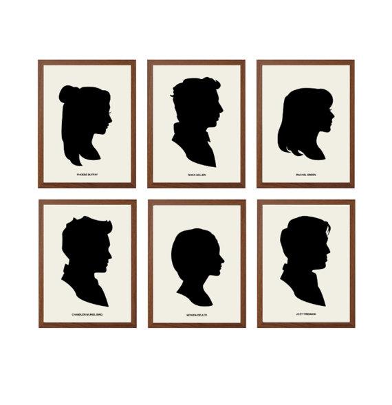 Wall Decor From Ross : Friends joey ross rachel phoebe chandler monica poster