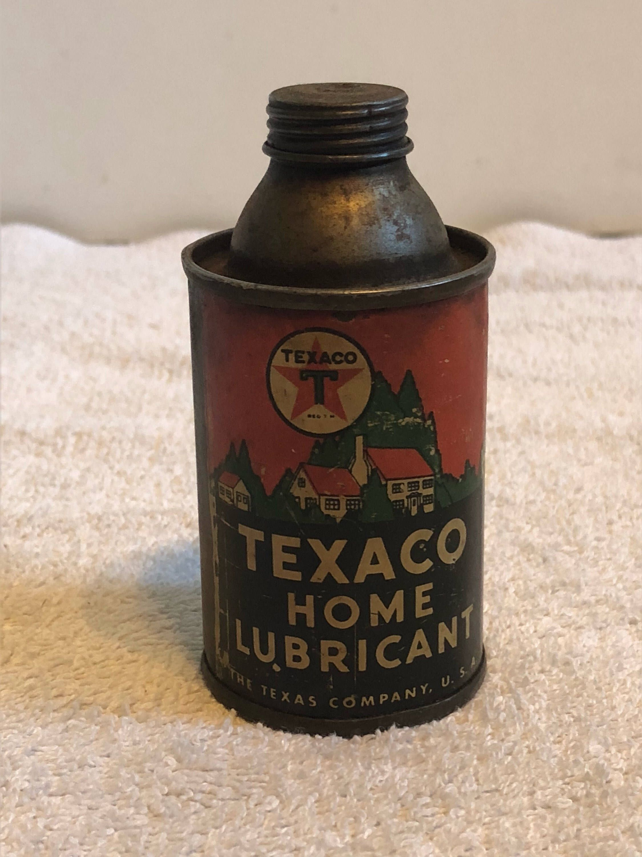 Old Texaco Home Lubricant Tin | Cool Old Stuff | Vintage oil