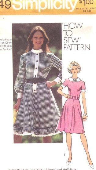 Simplicity 9849 Dress with Peter Pan Collar by DawnsDesignBoutique, $7.00