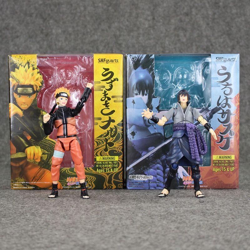 Anime S.H.Figuarts Naruto Shippuden Uchiha Sasuke PVC Action Figure No Box 14cm