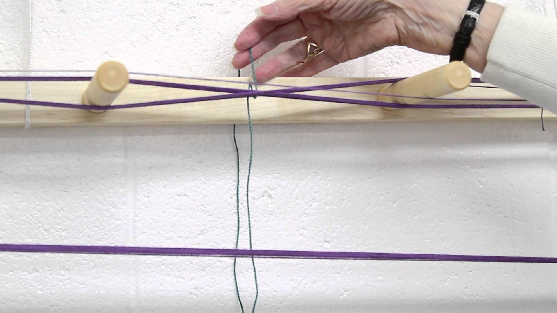 How To Wind A Warp Basket Weaving Patterns Yarn Store Loom Weaving