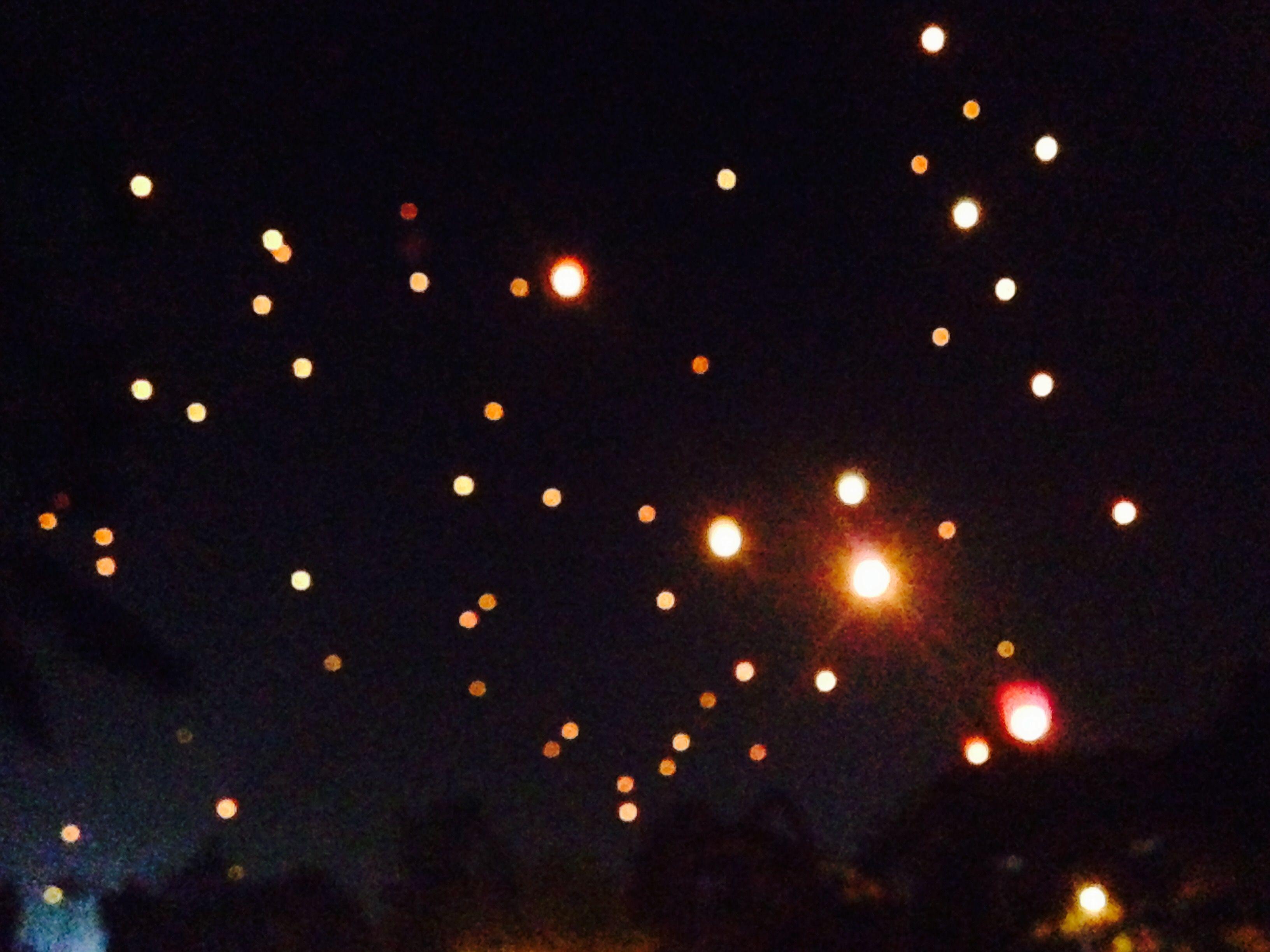 Diwali bokeh in India  Skylight Sky full of stars Pune Sarasbaug Lit