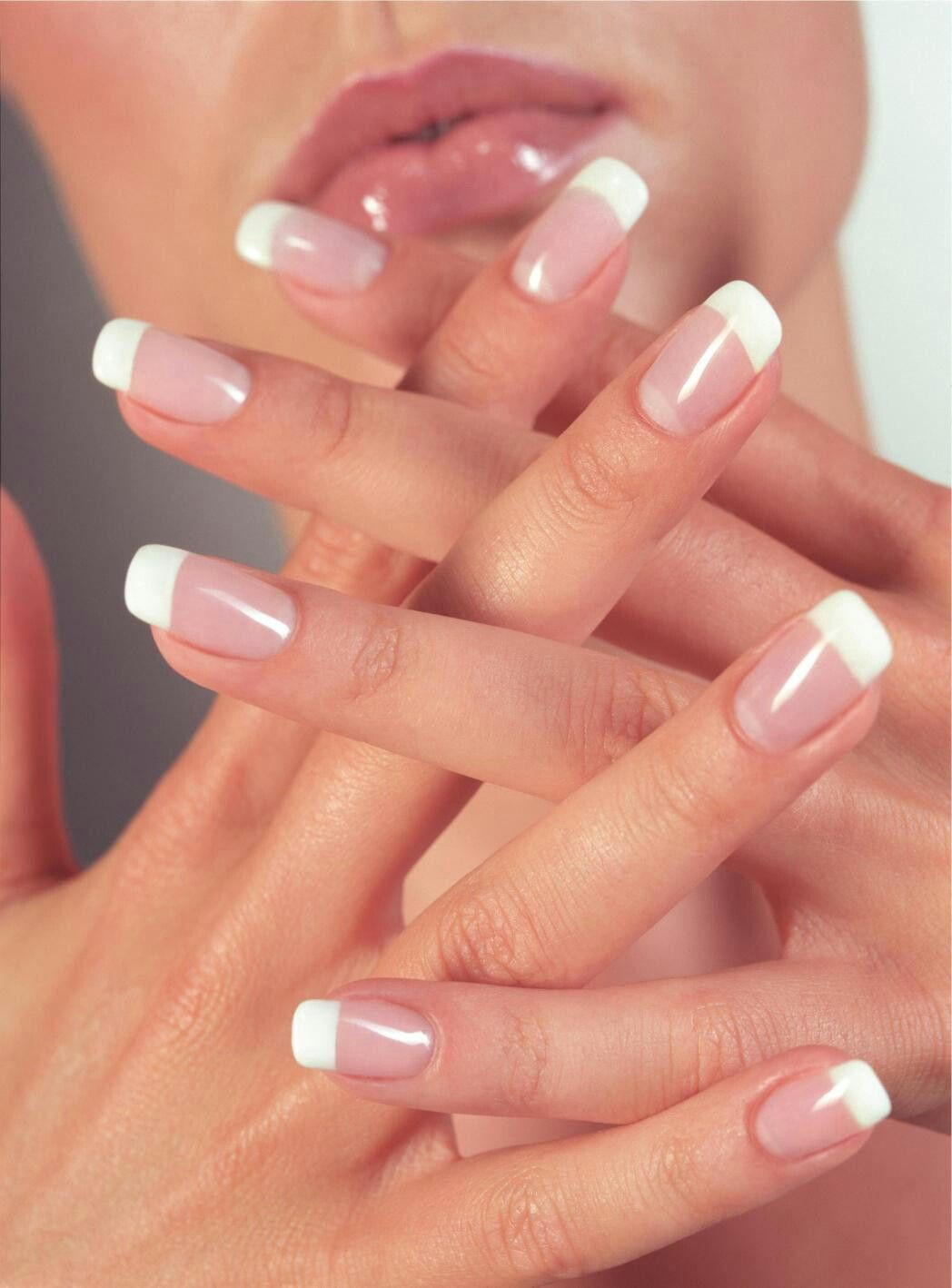 French Acrylic Nails 3 Double Team Dynamicpunch Fantastic