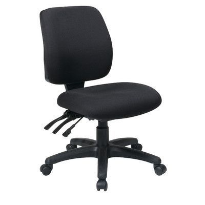 Office Star Work Smart Mid Back Dual Function Ergonomic Chair Upholstery