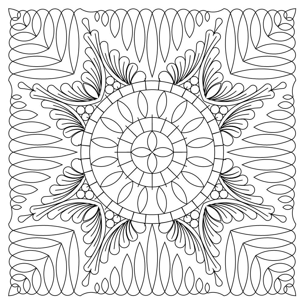 Zen Feather Saw Block 004 Pattern Coloring Pages Coloring Pages Christian Coloring