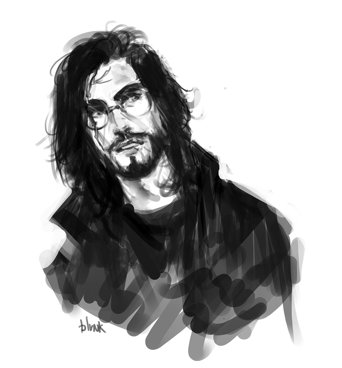 Sketching Long Haired Auror Harry During A Mission Character Portraits Harry Potter Fan Art Harry Potter Art