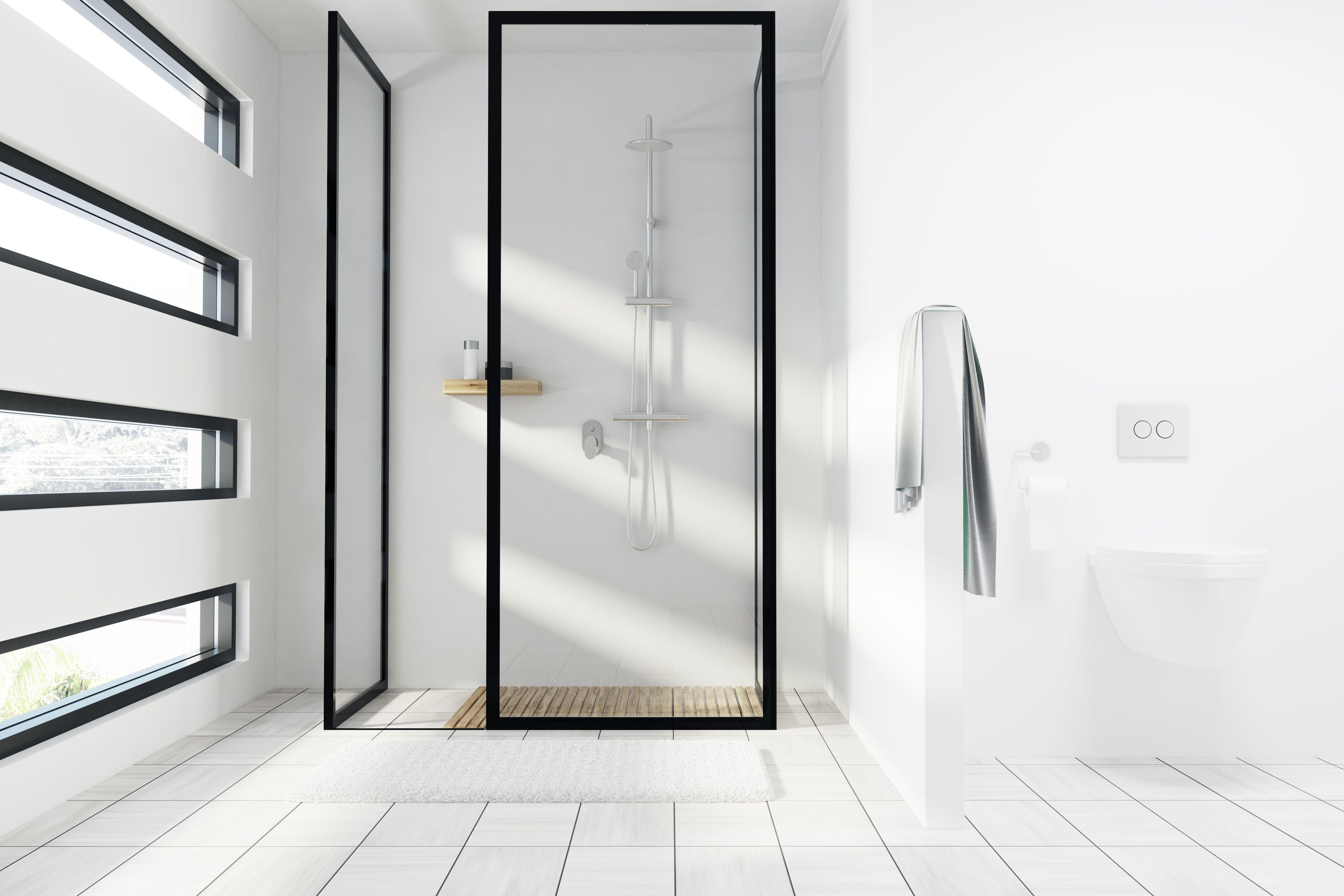 Duschwand aus Glas Das gilt für Dusche mit VSGGlas