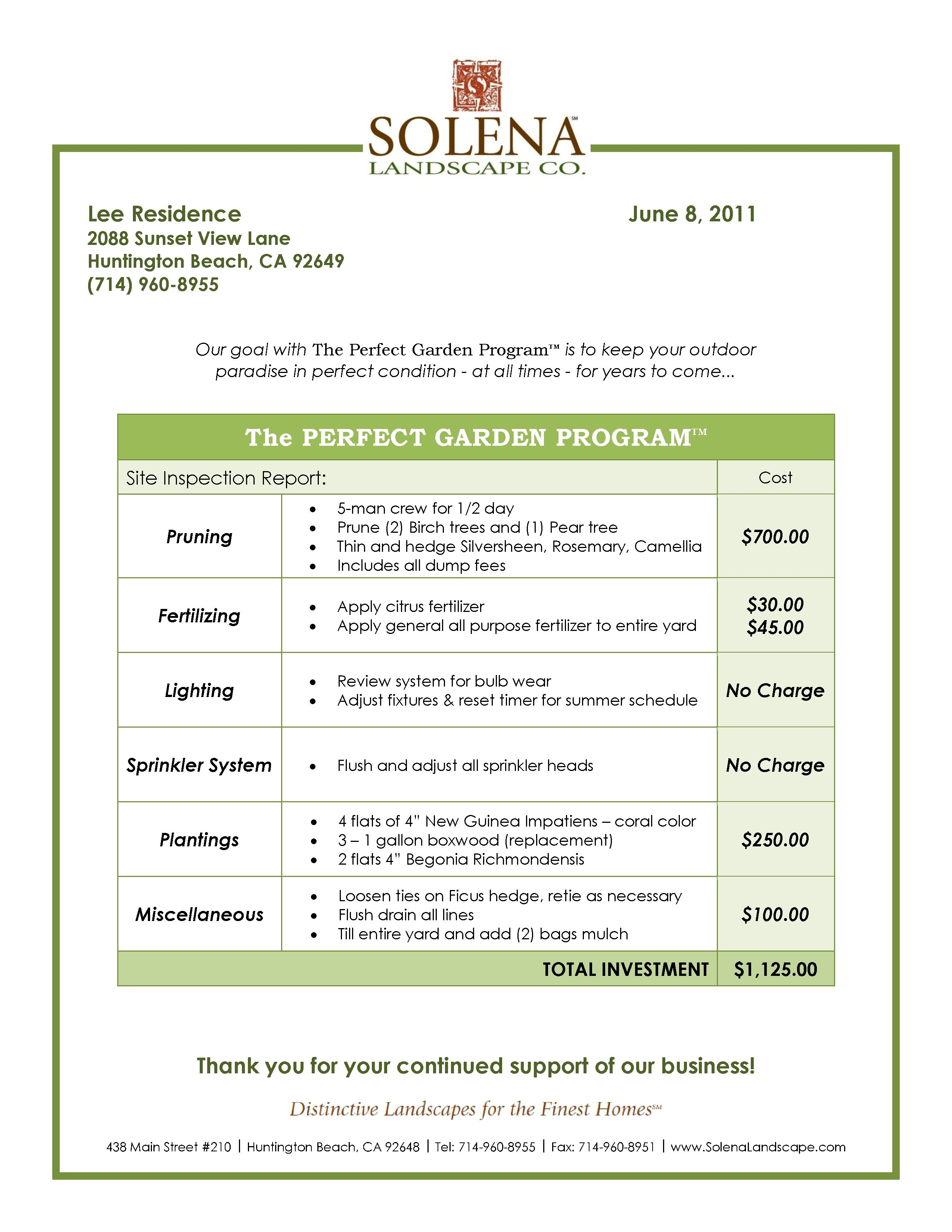 landscaping contract agreement