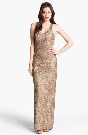 Sue Wong Embellished Sleeveless Gown Available At Nordstrom