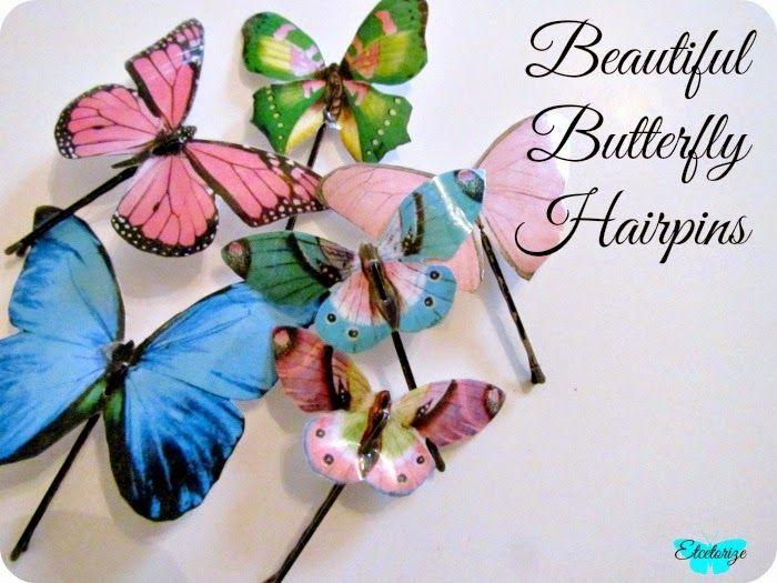 Etcetorize Beautiful Butterfly Hairpins Hair Pins Diy Hair Accessories Tutorial Butterfly Hair Accessories