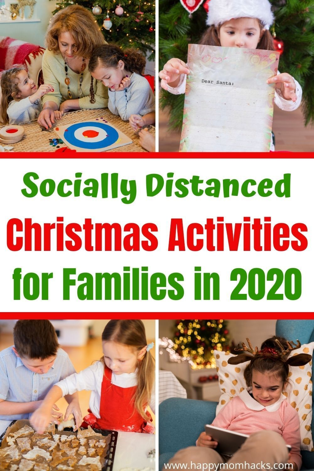 Social Distanced Christmas Activities For Families In 2020 Happy Mom Hacks In 2020 Christmas Activities For Families Christmas Activities Holiday Traditions Kids