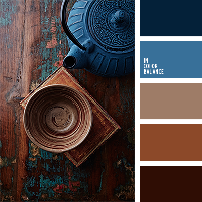 Brown and blue navy or dark blue Color inspiration for design wedding or outfit Moore color