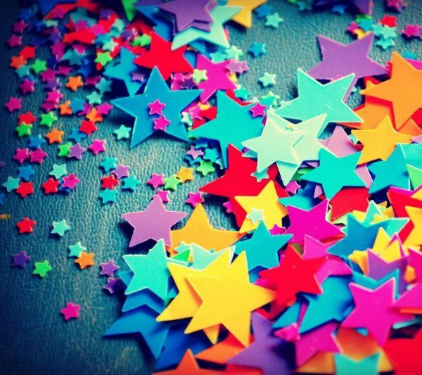 I believe that all the stars are colorful~ #color #star