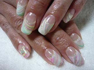 Water marble nail