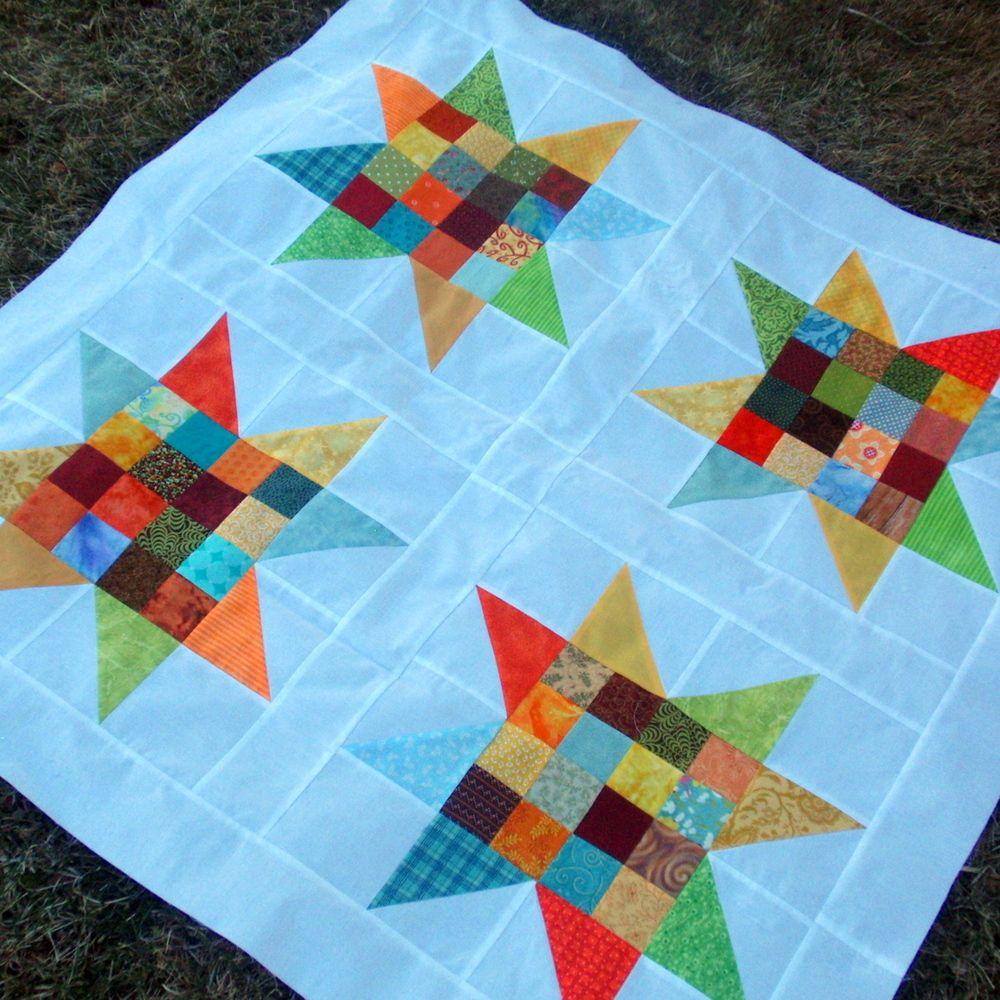 35 Free Star Quilt Patterns: Free Block Designs and Quilt Ideas ... : free star quilt pattern - Adamdwight.com