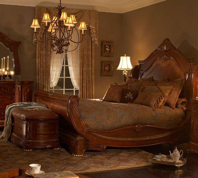 Best Michael Amini Michael Amini Cortina Sleigh Bed Elegant 400 x 300
