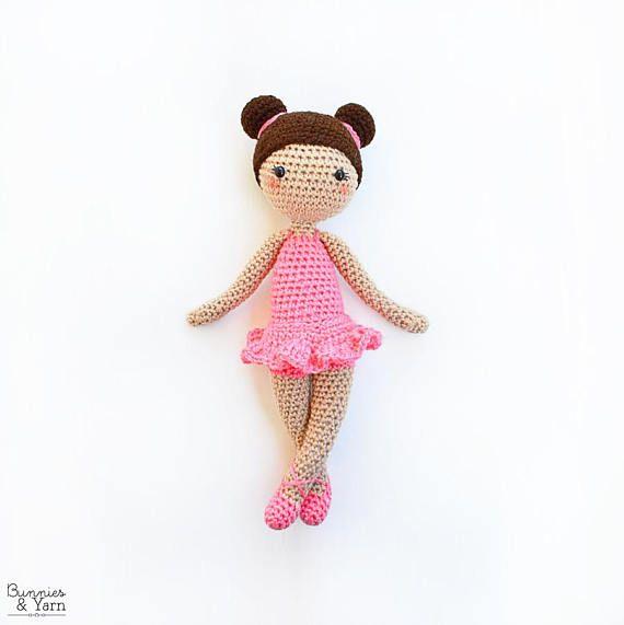 CROCHET PATTERN in English - Tracey the Ballerina Doll - Ballet - 11 ...