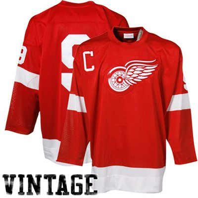 dc911b56 Mens Detroit Red Wings Gordie Howe Mitchell & Ness Red Throwback Authentic  Vintage Jersey