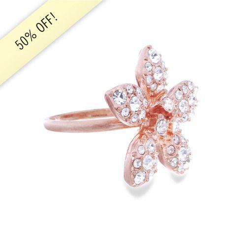 Deco Flower Ring  Sparkle & Save at: www.chloeandisabel.com/boutique/jennifermcdonald