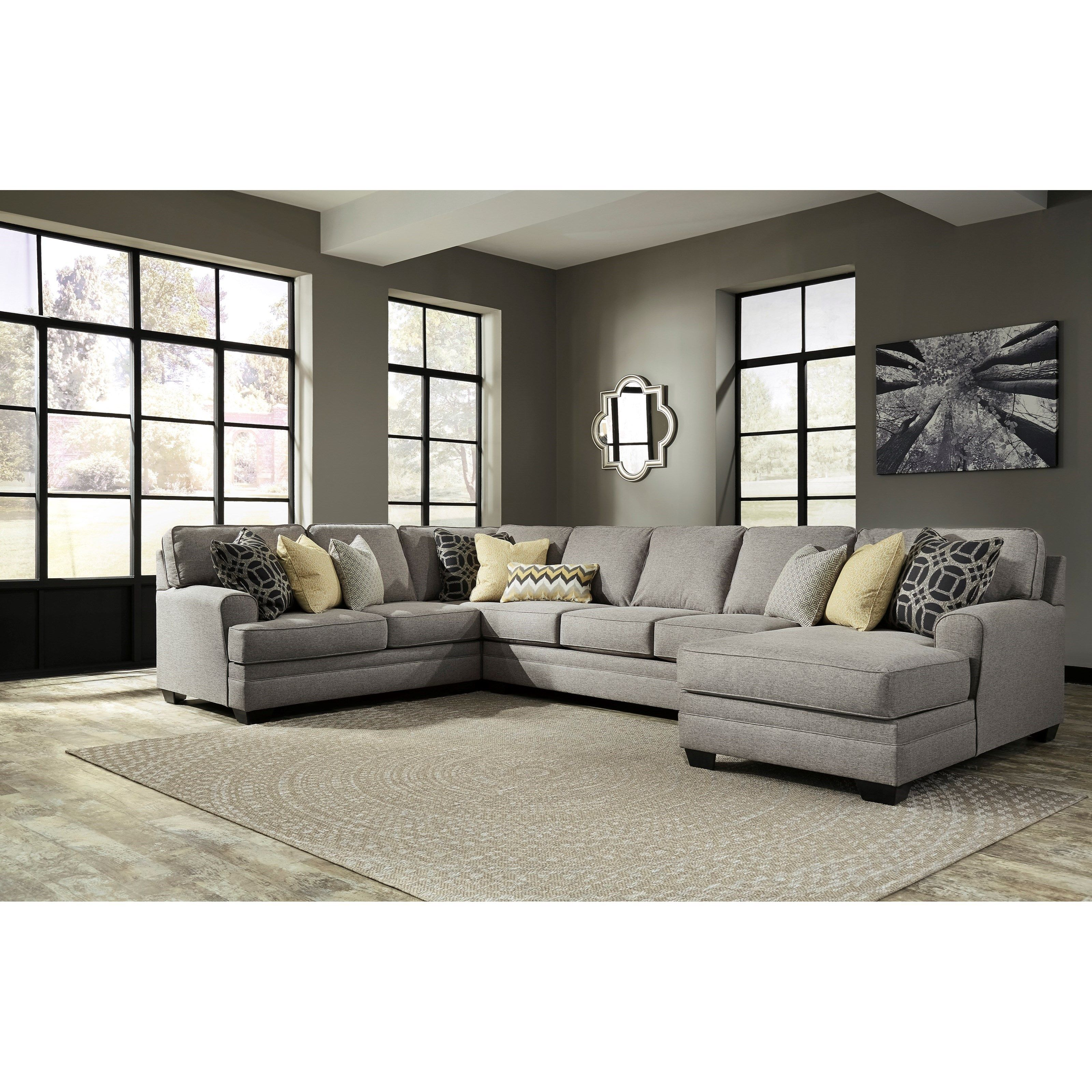 Remarkable Contemporary 4 Piece Sectional With Chaise Armless Sofa Bralicious Painted Fabric Chair Ideas Braliciousco