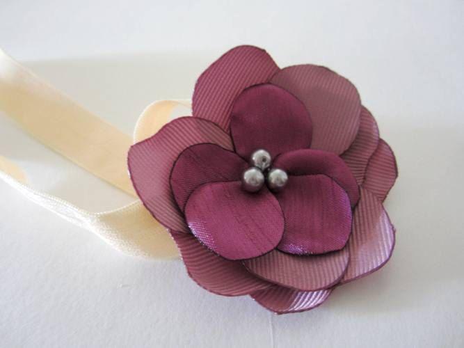 Mauve and purple Headband