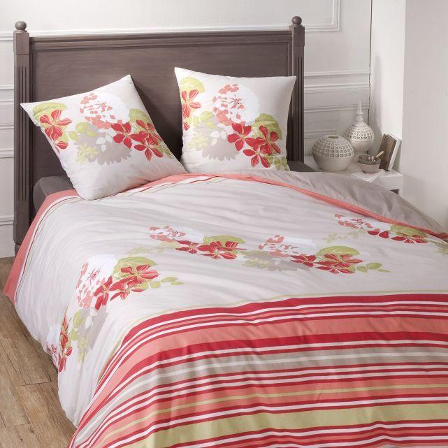 parure de lit bigarade corail i fil home housse de couette pinterest. Black Bedroom Furniture Sets. Home Design Ideas