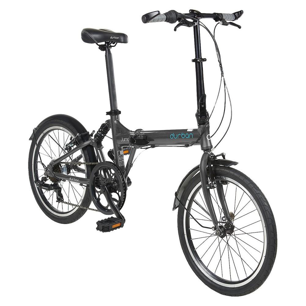 Durban Jump 7 Speed Folding Bike Dark Gray Dark Grey Dark