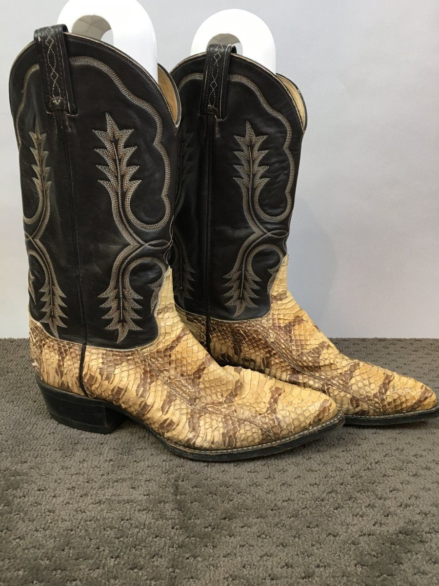 c9bf813f451 Vintage Tony Lama Snakeskin Boots// Vintage Cowboy boots// 80s ...